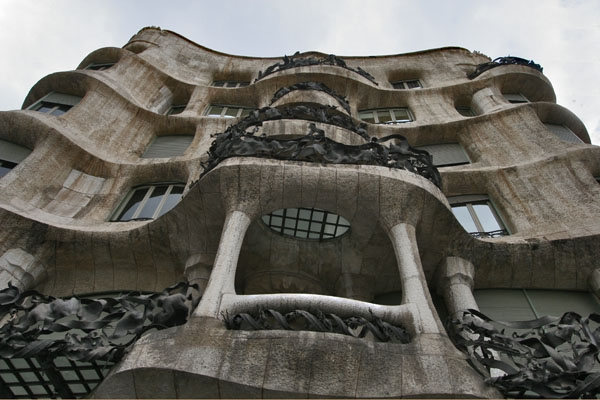 Send picture of One of the famous Gaudi houses in Barcelona from Spain as a free postcard