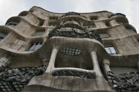 Foto van One of the famous Gaudi houses in Barcelona - Spain