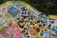 Foto van Detail from Park Güell - Spain