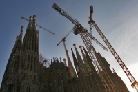 Picture of La Sagrada Familia church in Barcelona - Spain