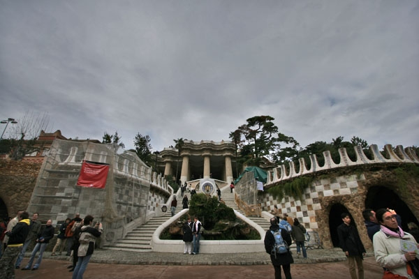 Send picture of Park Güell in Barcelona from Spain as a free postcard