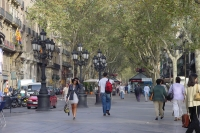 Photo de The Rambla in Barcelona - Spain