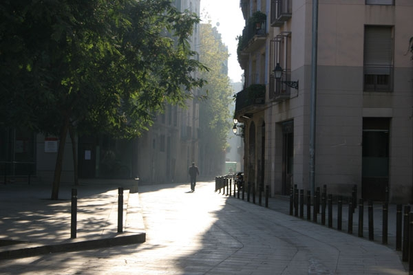 Send picture of A street in Barcelona from Spain as a free postcard
