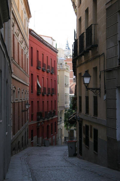 Send picture of Madrid street from Spain as a free postcard