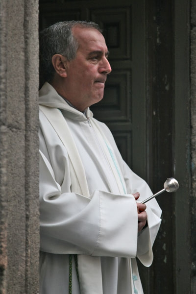 Catholic priest in Madrid