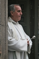 Picture of Catholic priest in Madrid - Spain