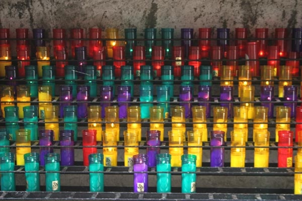 Send picture of Prayer candles in Montserrat from Spain as a free postcard