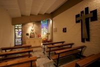 Photo de The small chapel inside Camp Nou stadium in Barcelona - Spain