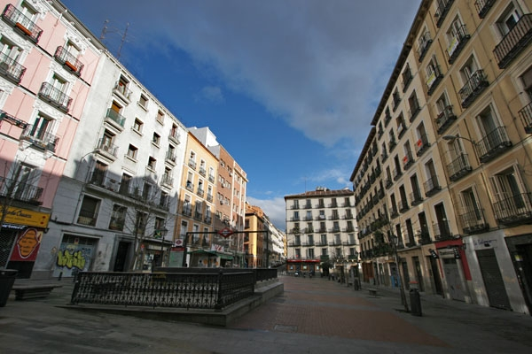Apartment buildings in Madrid