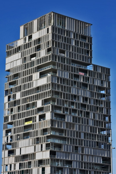 Send picture of Building in Diagonal Mar in Barcelona from Spain as a free postcard