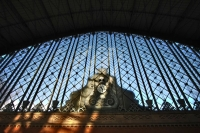 Foto van Clock at Atocha train station in Madrid - Spain
