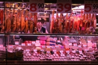 Foto di Ham on sale in Madrid - Spain