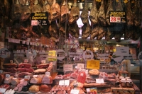 Foto de A butcher shop in Madrid - Spain