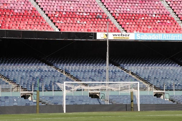 Send picture of Goal at Camp Nou stadium from Spain as a free postcard