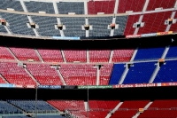 Foto di Seats at Camp Nou stadium in Barcelona - Spain