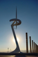 Foto van Olympic needle in Montjuic, Barcelona - Spain