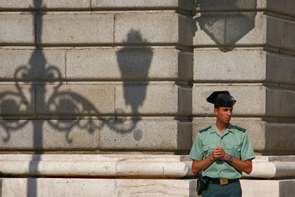 Send picture of A police officer in Madrid from Spain as a free postcard