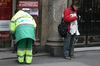 Picture of Garbage collector and lottery ticket seller - Spain