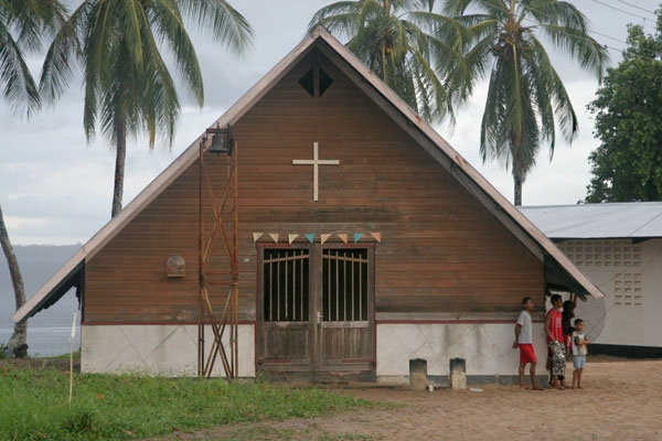 Send picture of Church in Galibi from Surinam as a free postcard