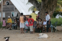 Foto van People watching a football match in Galibi - Surinam