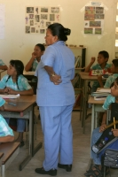Photo de Teacher in a Galibi school - Surinam