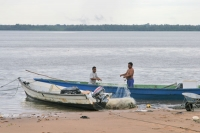 Foto van Fishermen in Galibi - Surinam