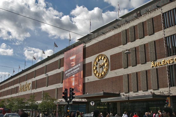 Send picture of Shopping center in Stockholm from Sweden as a free postcard