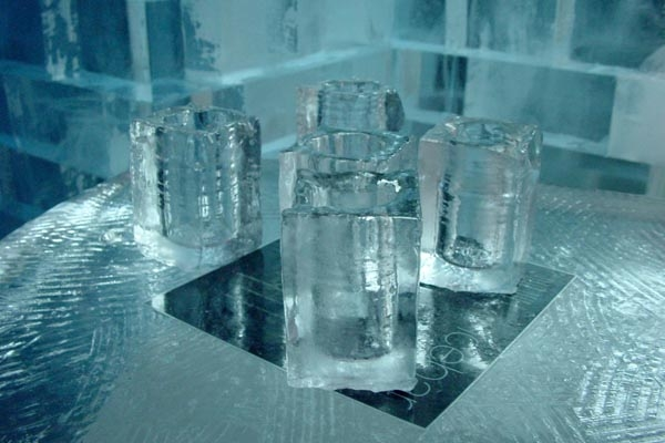 Send picture of Glasses at the Ice Bar from Sweden as a free postcard