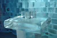 Foto van Ice table with glasses - Sweden