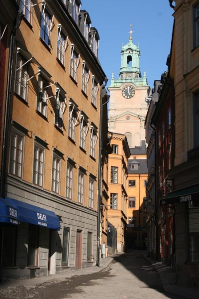 Send picture of Street in Stockholm from Sweden as a free postcard
