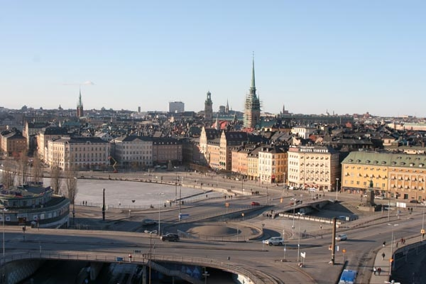 Send picture of Roads in Stockholm from Sweden as a free postcard