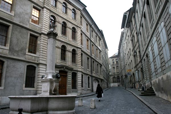 Send picture of Street in Geneva from Switzerland as a free postcard