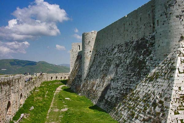 The thick walls of Krak des Chevaliers