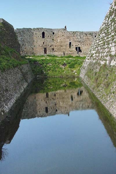 The moat of Krak des Chevaliers