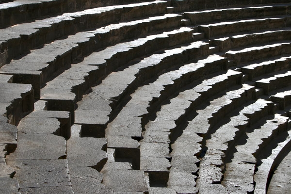 Seats of Bosra amphitheater
