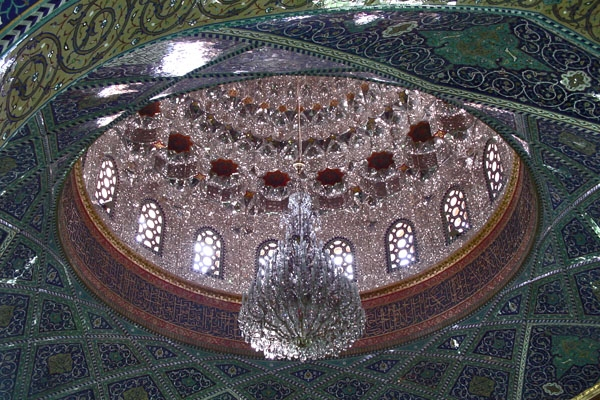 Ceiling of Omayyad mosque in Damascus