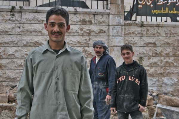 Syrian construction workers