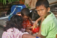 Foto van Children on Koh Panyi - Thailand