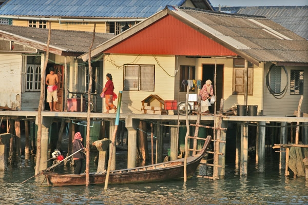 Send picture of Houses on Koh Panyi from Thailand as a free postcard