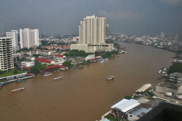 Send picture of View over Chao Phraya River and Bangkok from Thailand as a free postcard