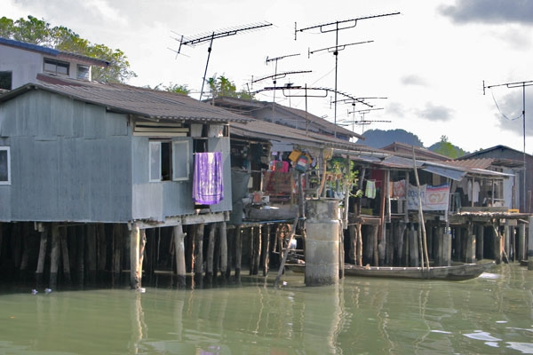 Envoyer photo de Houses built on stilts in Phang Nga bay de Thailande comme carte postale électronique