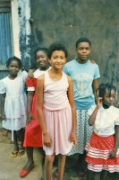 Picture of Girls posing in front of a house - Togo