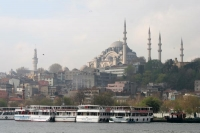 Foto van Sleymaniye Mosque seen from the Golden Horn - Turkey