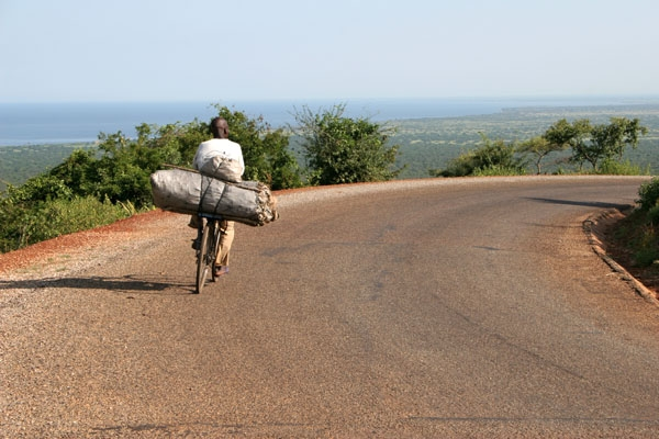 Mountain road in Uganda
