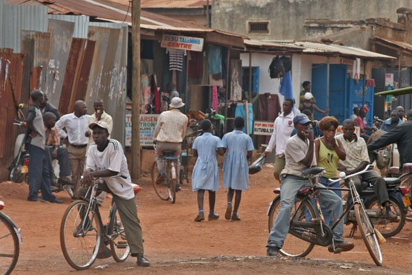 Send picture of Street in village in western Uganda from Uganda as a free postcard