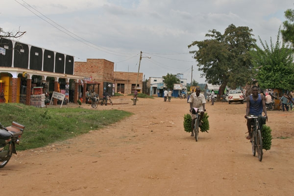 Send picture of Village street in western Uganda from Uganda as a free postcard