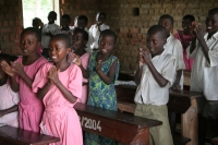 Picture of Ugandan students learning English by singing - Uganda