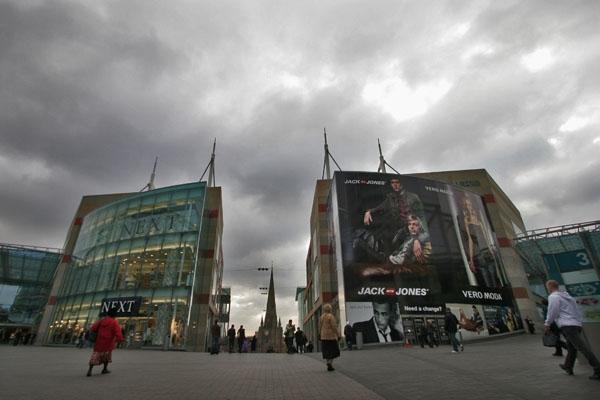 Stuur foto van Shopping center in Birmingham van Verenigd Koninkrijk als een gratis kaart