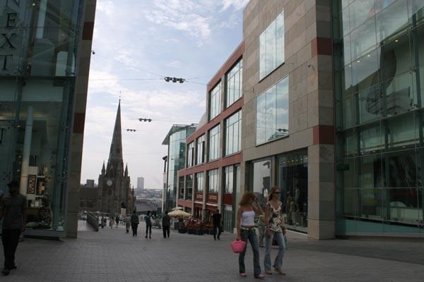 Spedire foto di Street in Birmingham di Regno Unito come cartolina postale elettronica