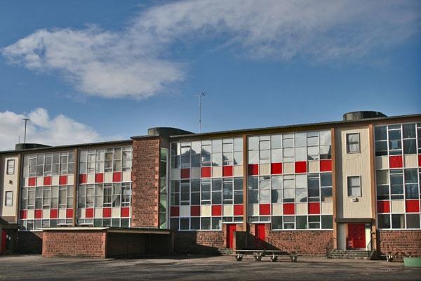 Stuur foto van School building in Glasgow van Verenigd Koninkrijk als een gratis kaart